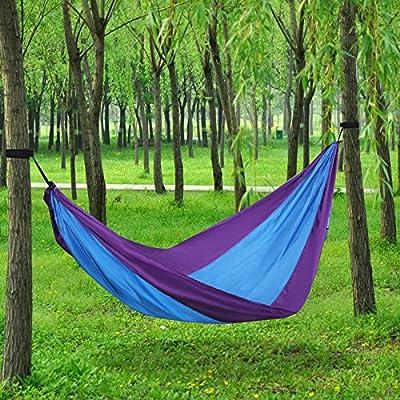 Songmics Portable Prachute Hammock Nylon Fabric Patio Camping Hanging 118'' x 55'' UGDC30L