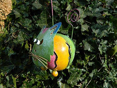 Cat Tea light Candle Holder Metal Hanging Garden Lantern - Green Tealight