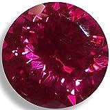 Lab Ruby Fine Red Round Brilliant Loose Unset Gem (5mm) (Tamaño: 5mm)