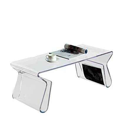 Magazine Coffee Table (Clear) (15.5H x 39W x 17D)