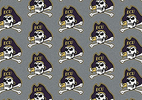 East Carolina Pirates NCAA Milliken Team Repeat Area Rug (10'9