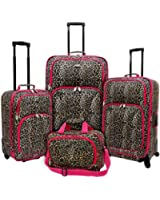 U.S. Traveler Fashion Zebra 2 Piece Carry-On Luggage Set