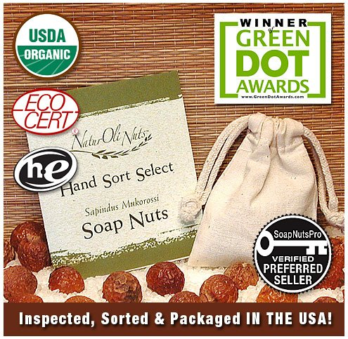 NaturOli Soap Nuts / Soap Berries Sample Pack. (~5+ loads)
