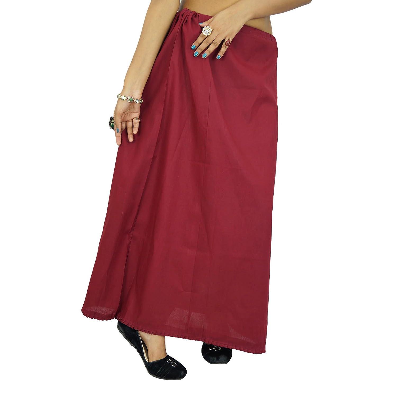 Indische Frauen tragen Baumwolle Bollywood Petticoat Solide Inskirt Futter für Sari-Geschenk für sie jetzt bestellen