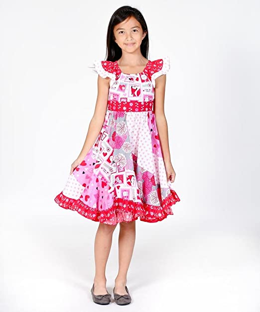 Jelly-The-Pug-Big-Girls-Love-Letter-Valentines-Day-Flo-Dress