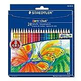 Office Product - Staedtler Buntstifte Noris Club Set 24 Farben - brillante Farben, leicht zu spitzen; Etui - 144 NC24