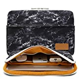 Canvaslife Black marble pattern 360 degree protective 13 inch Canvas laptop sleeve with Pocket 13 Inch 13.3 Inch Laptop Case (Color: Black marble, Tamaño: 13 inch/13.3 inch)