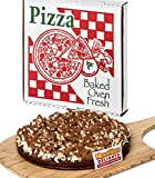Chocolate Candy Gift NomNom Delights Sea Salt Caramel Chocolate Lovers Popcorn Pizza in a Box - Unique Gourmet Gift & Kosher Certified