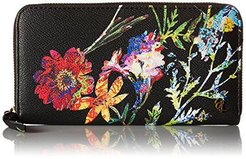 elliott-lucca-large-zip-wallet-black-spring-botanica
