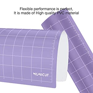 12x12 Strong-Grip Craft Cutting Mat for Silhouette Cameo 3/2 / 1(3 Pack), Monicut Cut Mats with Durable Adhesive Non-Slip PVC Perfect for Quilting, Scrapbooking, Sewing and All Arts (Color: purple for Cameo 12*12 3pack, Tamaño: StrongGrip)