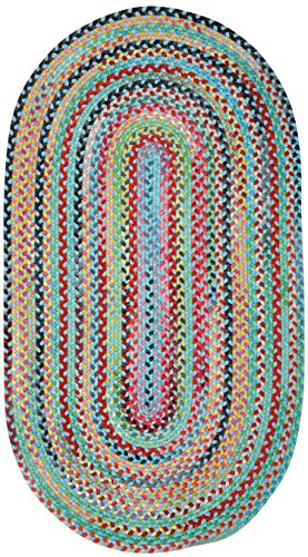 Capel Rugs Migration 4' x 6' Oval Braided Area Rug - Spa