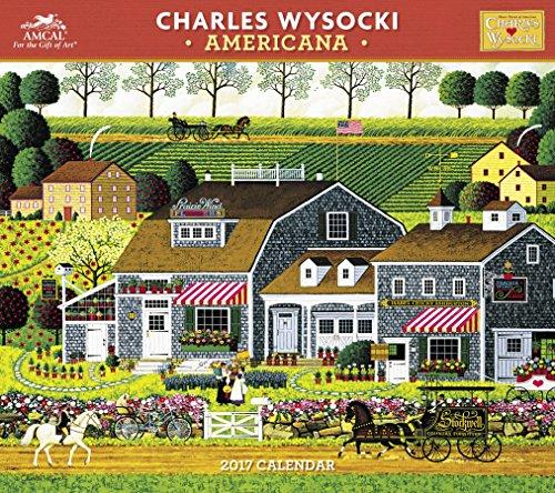 Charles Wysocki - Americana Wall Calendar (2017)
