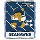 NFL Seattle Seahawks Woven Jacquard Baby Throw Blanket at Amazon.com