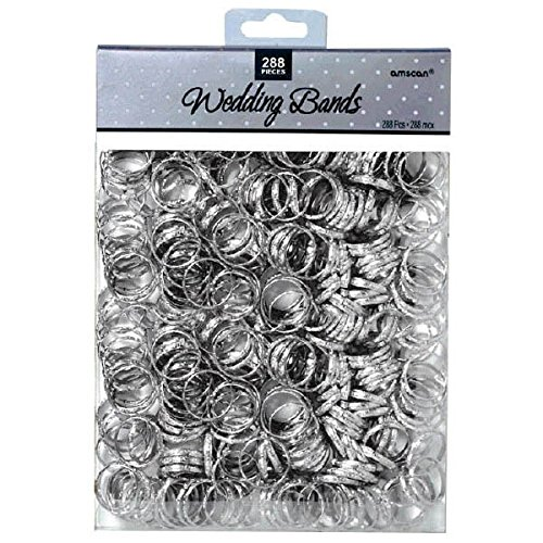 "Amscan Contemporary Bands - Wedding Party Novelty Favors, 3/4"", Silver"
