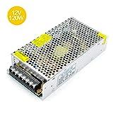 inShareplus 12V DC Universal Regulated Switching Power Supply,10A 120W, 100-240V AC to DC 12 Volt LED Driver, Converter, Transformer for LED Strip Light (Color: Silver, Tamaño: 12V 120W)