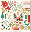 My Minds Eye MSC112 Christmas On Market St. Chipboard Elements 12 x 12 in. - With Gold Foil