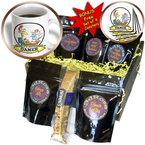 Cgb_103426_1 Dooni Designs Worlds Greatest Cartoons - Funny Worlds Greatest Pc Gamer Cartoon - Coffee Gift Baskets - Coffee Gift Basket