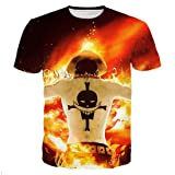 GIGA COOL Womens Mens Fashion Portgas.D. Ace One Piece 3D Hip Hop Harajuku T-Shirt
