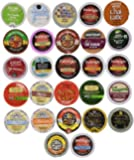 Coffee, Hot Cocoa, Cappucinno and Tea Single Serve Cups for Keurig K Cup Brewers Variety Pack Sampler (30 Count)