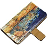 Hassam - Beryl Look At The Pond, Custodia in Pelle Portafoglio Magnetico Flip Stand Wallet Case Cover Shell Borsa...