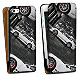 Down flip case leather cover shell for Porsche 911 Carrera S Cargraphic iPhone 5 design bag Downflip black - Apple