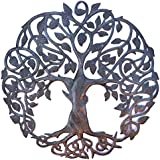 "**New Design** Celtic Inspired Tree of Life, Metal Wall Art, Fair trade from Haiti, 23"" X 23"""