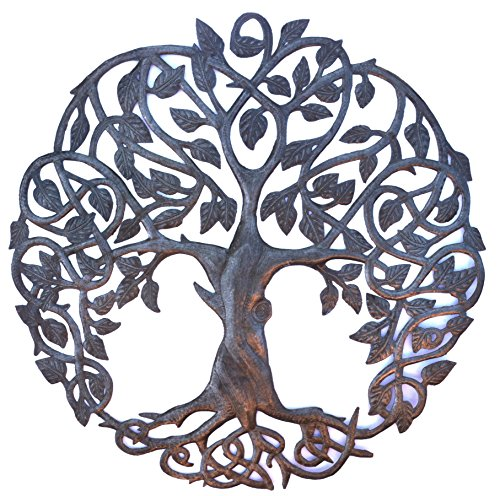 New Design Celtic Inspired Tree of Life, Metal Wall Art, Fair trade from Haiti, 23