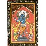 A Composite Image Of Shri Rama, Chaitanya Mahaprabhu And Shri Krishna With Devotees - Watercolor On