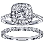 2.42 CT TW Pave Set Diamond Encrusted...