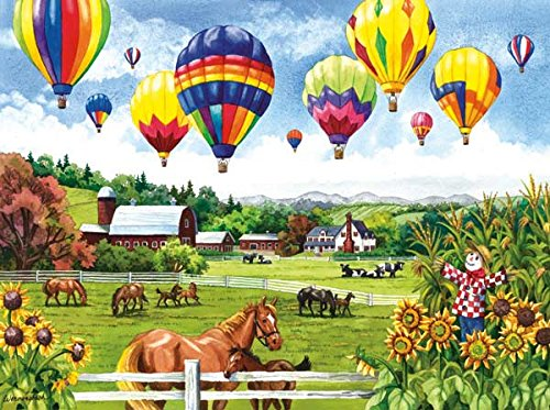 Balloons Over Fields a 500-Piece Jigsaw Puzzle by Sunsout Inc.