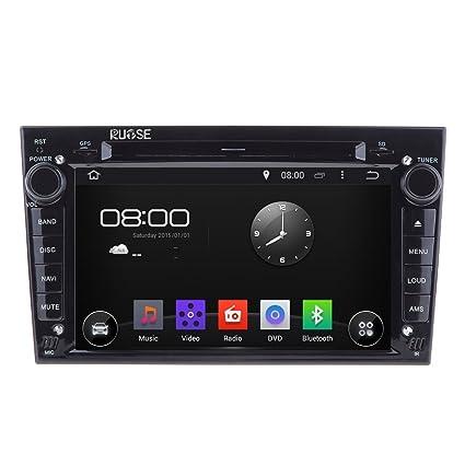 Rupse - Android 4.4 Autoradio DVD GPS Système de Navigation Stereo Lecteur DVD Voiture Avec 7 pouces HD Ecran Tactile Capacitif pour Opel Astra Antara Corsa Zafira (Noir)