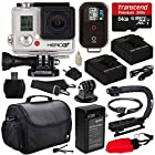 GoPro HD Hero3+ Hero 3+ Black Edition (CHDHX302) with 64GB MicroSD, (2) Battery, Charger, European Adapter, Action Grip Handle, Case, HDMI Cable, Floating Strap, Tripod Adapter Mount, Cleaning Kit