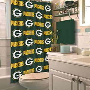 Green Bay Packers Fabric Shower Curtain