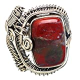 Ana Silver Co Large Rare Bloodstone 925 Sterling Silver Ring Size 10.5 RING790179