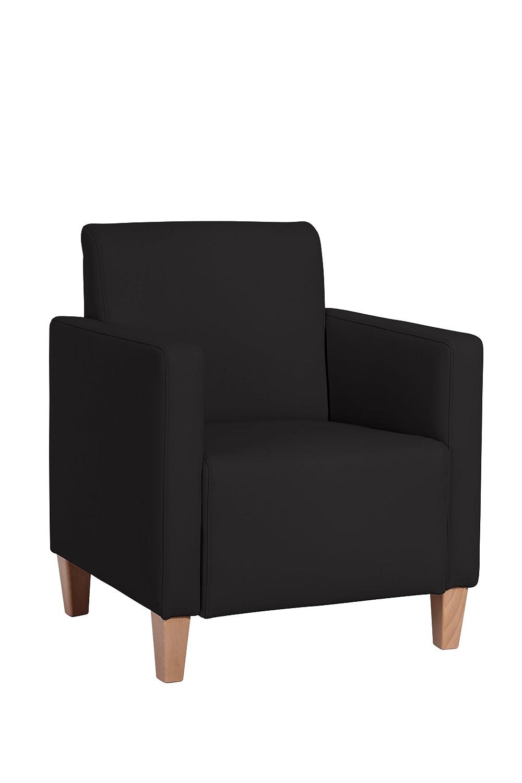 Max Winzer 2792-1100-2070140 Sessel Malu, Kunstleder, schwarz