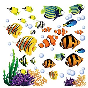 Under the Sea Tropical Fish Nursery/Kids Room Wall Art Sticker Decals by CherryCreek Decals