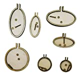 Gnognauq 7pcs Mini Ring Embroidery Circle,Mini Round Wood Hoops DIY Wooden Cross Stitch Hoop for Kit Frame Craft