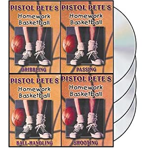 Pistol Petes Homework Basketball - 4 DVDs, by Pete Maravich