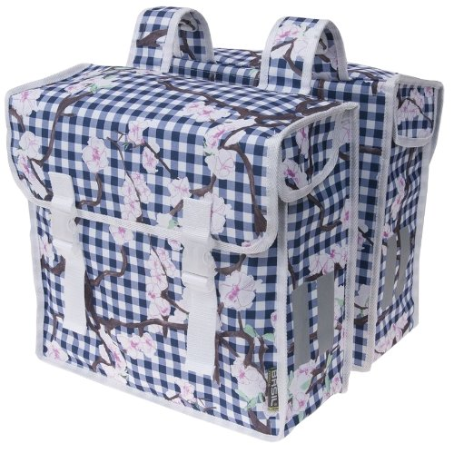 Basil Blossom Farm Double Bike Bag (Blue/White) front-1000003