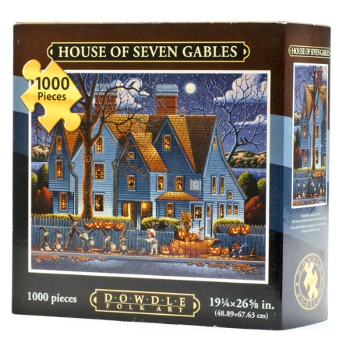 Cheap Dowdle Folk Art House of Seven Gables 1000 pieces (19×26) by Eric Dowdle (B005FABEKU)