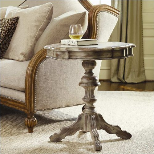 Hooker Furniture Sanctuary Round Pedestal Accent Table in Du