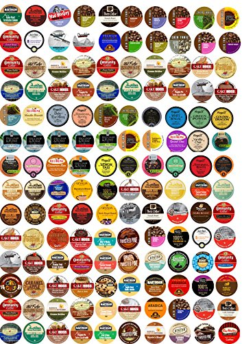 Sensational 140 cup Super Sampler Pack, Guaranteed 140 Different cups...Coffee & Tea NO Duplicates, 140 UNIQUE! (Taxi Chai Keurig compare prices)