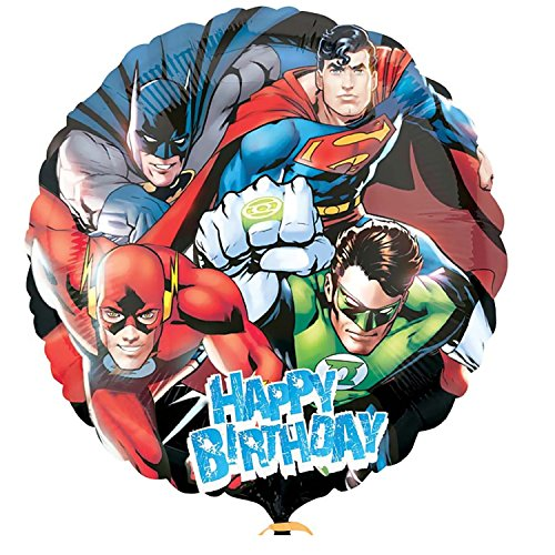 Justice League Balloon with Superman Batman and Friends birthday party supplies