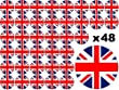 48 x 3cm Queens 90th 90 Years Birthday Street Party Elizabeth II Celebrations Union Jack UK Flag Fairy Muffin Cup Cake Toppers Decoration Edible Rice Wafer Paper