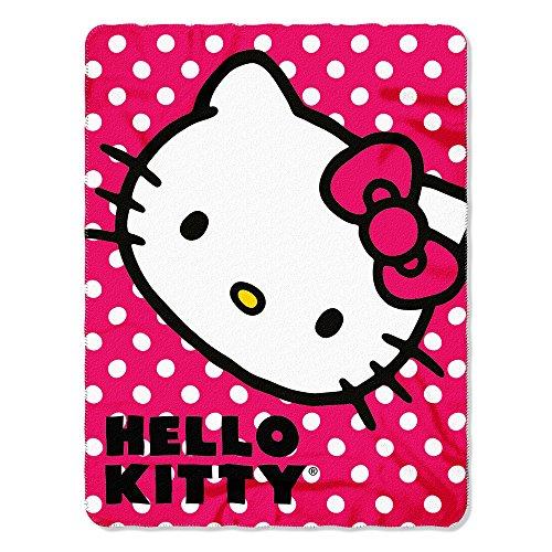 Sanrio Hello Kitty, Polka Dot Kitty Printed Fleece…
