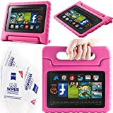 """2013 Kindle Fire Hd 7"""" Cover Case Slim Fit Silicone Plastic Dual Protective Back Cover Standing Case Kid Proof Case for Amazon Kindle Fire Hd 7 Inch(will Not Fit Hd or HDX Models)-multiple Color Options (EVA-Kindle Fire HD 7(2013):Pink)"""