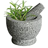 Songmics M�rser Mit St��el aus massivem Granit 15 cm Stein KGG003
