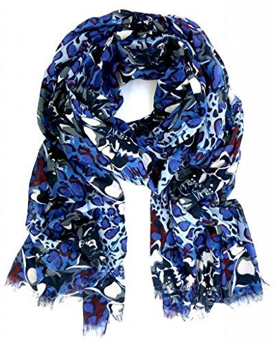 accessu-Echarpe-Foulard-pour-Femme-Floral-Print-bluegreywine-red