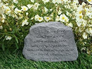 Memorial garden accent those we love don 39 t go away great thoughts garden accents graveside for Garden memorials for loved ones