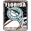 Florida Marlins MLB Triple Woven Jacquard Throw (MLB Series) (48x60&quot;)&quot;